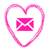 email pink heart
